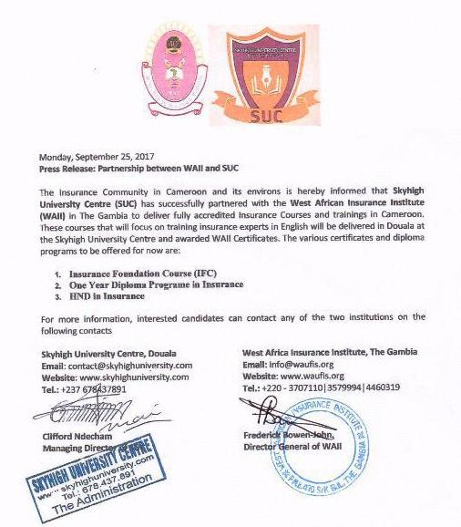 SUC-WAII Partnership signed